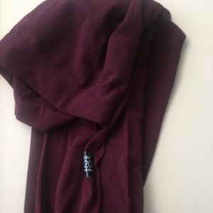H&M burgundy deep red tights nwot M